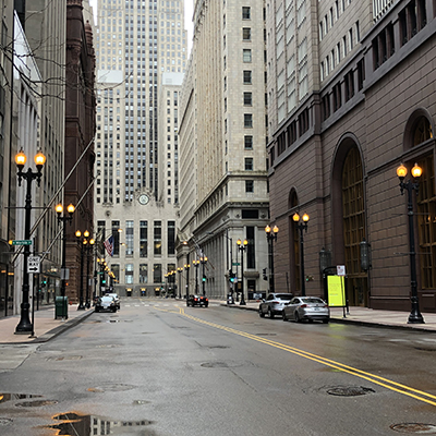 Chicago downtown empty photo