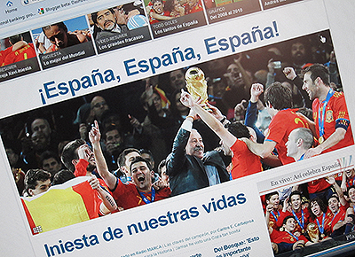 World Cup Spain Wins Photo