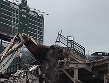 Wrigley Field Bleacher Demolition Photo
