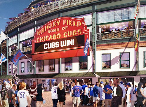 Front of New Wrigley Field Rendering