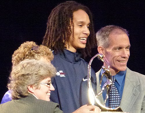 Brittney Griner Wade Trophy Photo
