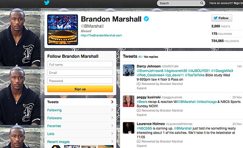 Brandon Marshall Twitter Photo