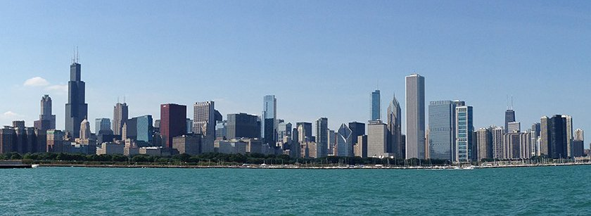 Chicago Skyline Panoramic Photo
