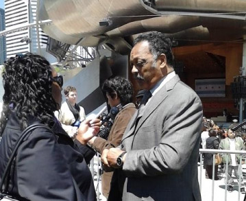 Jesse Jackson Photo by Blythe Meyer