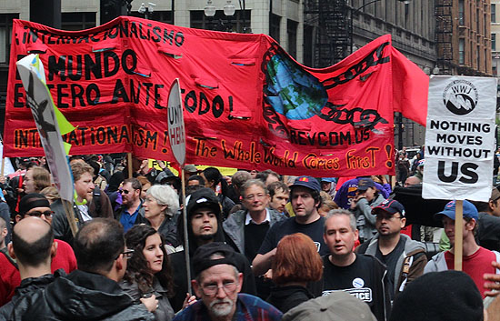May Day March Photo by Paul Tadalan