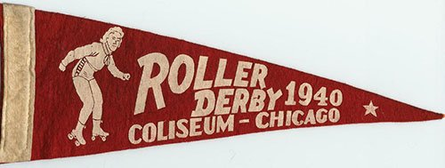 Roller Derby Pennant Photo