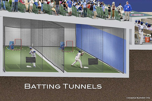Batting Tunnels Rendering
