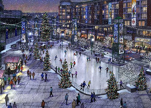 Wrigley Field Plaza Ice Rink Rendering