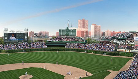 Wrigley Field Signage Rendering