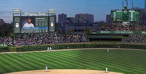 Wrigley Video Board Rendering