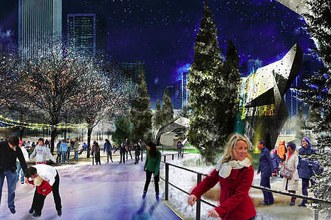 Maggie Daley Park Ice Skating Rendering